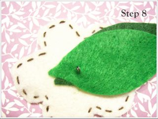 Felt Flower Step 8 by DIY Unveiled