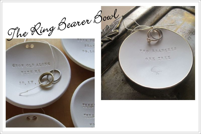 The Ring Bearer Bowl by Paloma's Nest