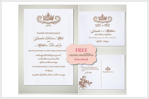 Invitation Freebie by The Wedding Chicks