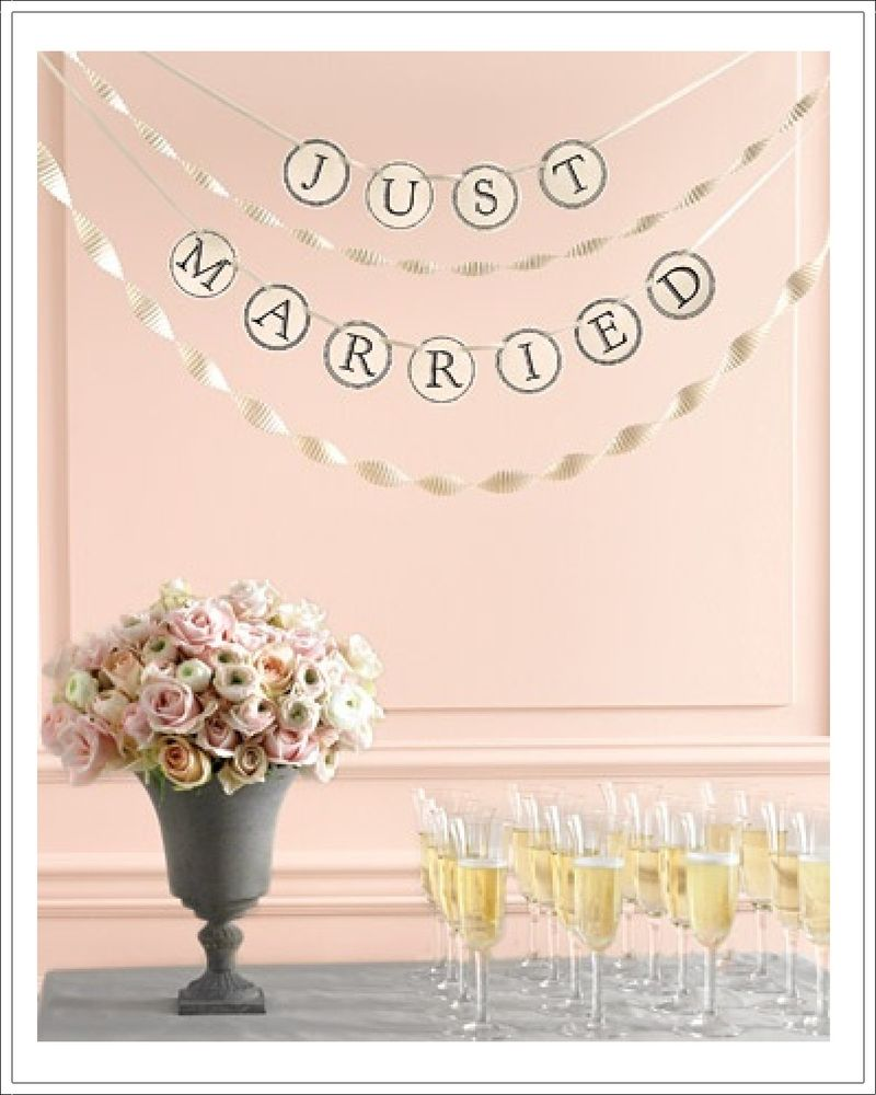 Just Married Template by Martha Stewart