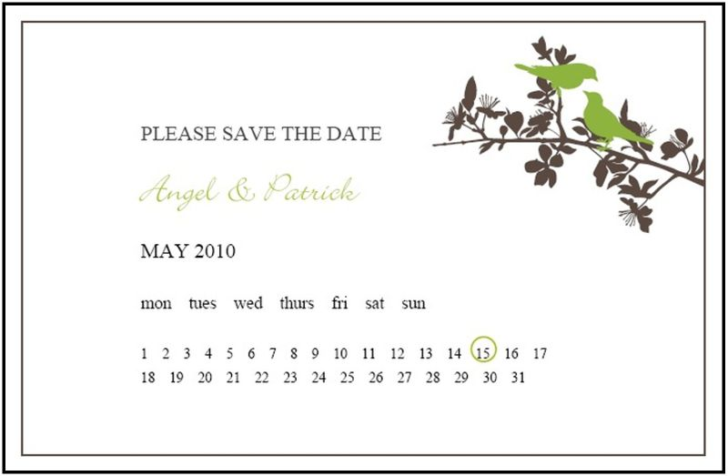 Save the Date Postcard by Uniquity Invitations